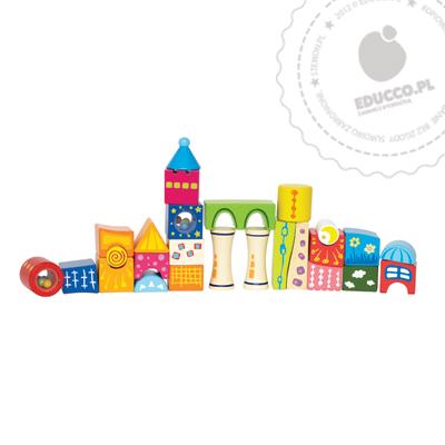 Magiczne klocki  Zamek - zabawki drewniane