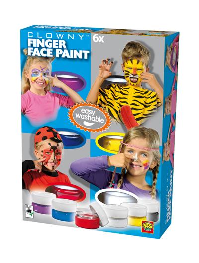 Kremowe farby do malowania twarzy