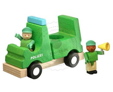 Radiowóz policyjny - zabawki drewniane