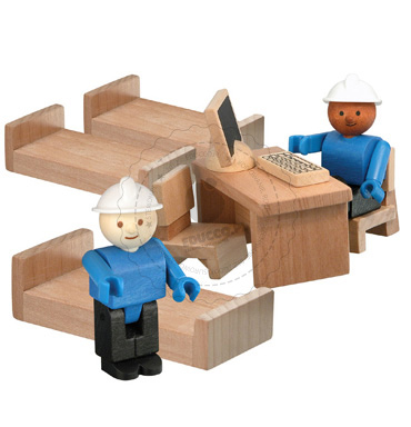 Strażacy - zabawki drewniane