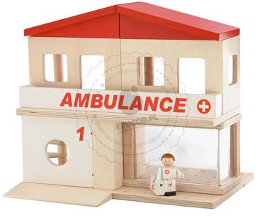 Szpital - zabawki drewniane