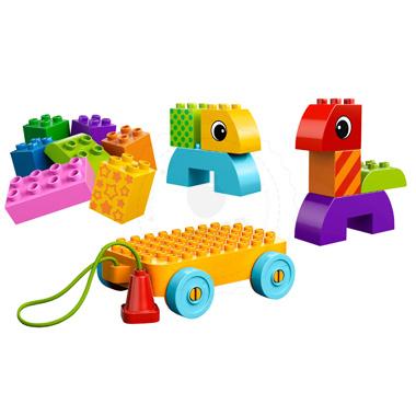 Klocki LEGO  DUPLO LEGO Ville 10554 - Kreatywny domek do ciągnięcia ...
