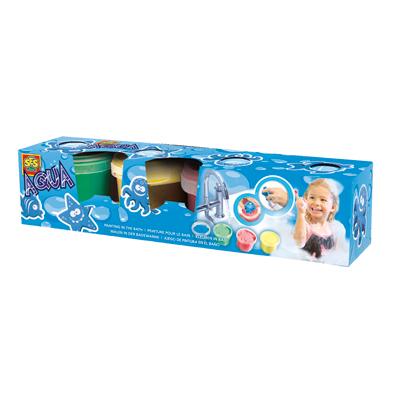 Stempelki z farbami do malowania w kąpieli - zabawy w wodzie