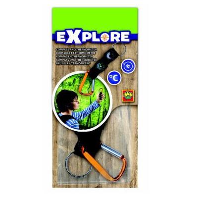 Kompas i termometr dla podróznika - explore