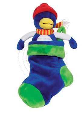 Przytulanka - ptaszek mieszkający w skarpecie - zabawki pluszowe