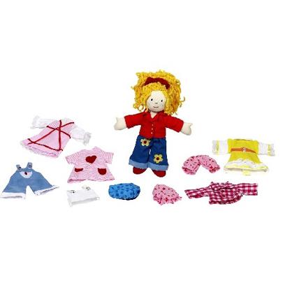 Laleczka szmaciana - dziewczynka Karry - zabawki dla dzieci