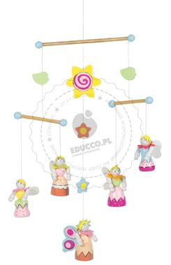 Kolorowe elfy - zabawki drewniane