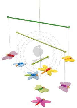 Kolorowe motylki - zabawki drewniane