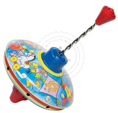 Mały bączek z kolorowymi zabawkami - zabawki dla dzieci