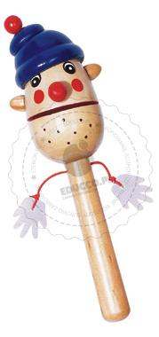 Clap Clap Clapper - kołatka klown w czapce - zabawki drewniane