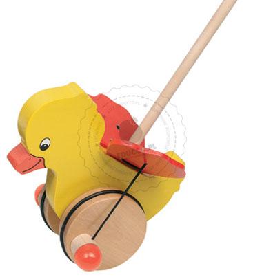 Kurczaczek do pchania - zabawki drewniane