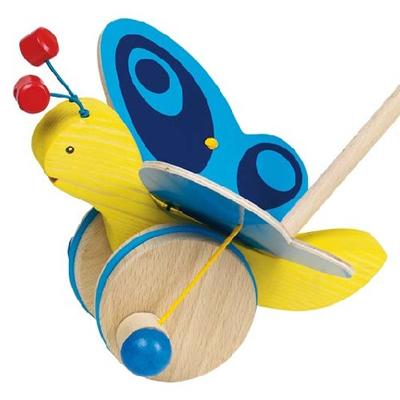Motyl z niebieskimi skrzydełkami do pchania - zabawki do pchania