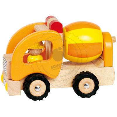 Drewniana betoniarka - zabawki dla chłopców