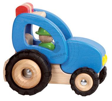 Drewniany traktor - zabawki dla chłopców