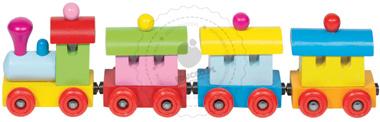 Pociąg Sofia z magnetycznymi wagonikami - zabawka drewniana