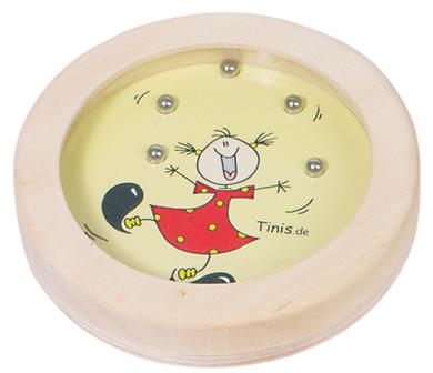 Gra wpasowanie kulek dziewczynka - zabawki drewniane