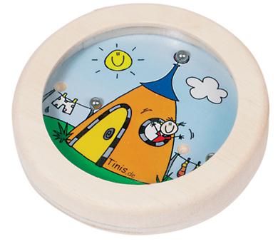 Gra wpasowanie kulek domek- zabawki drewniane