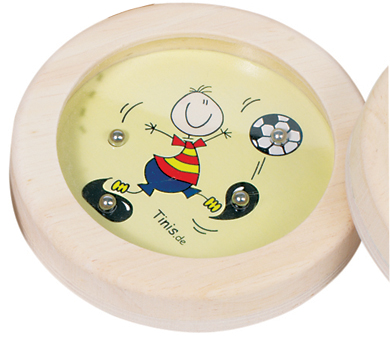 Gra wpasowanie kulek piłkarz- zabawki drewniane