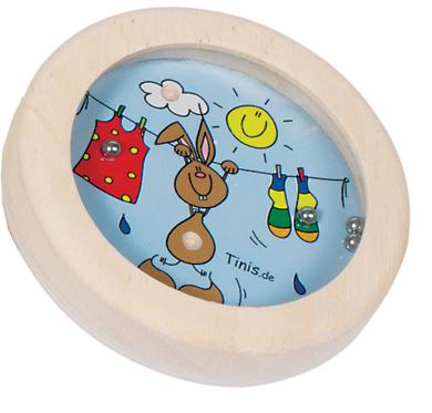 Gra wpasowanie kulek króliczek - zabawki drewniane