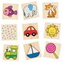 Memo - kolorowe obrazki - zabawki drewniane