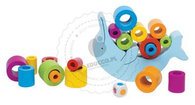 Zabawy zręcznościowe - Delfin - zabawki drewniane