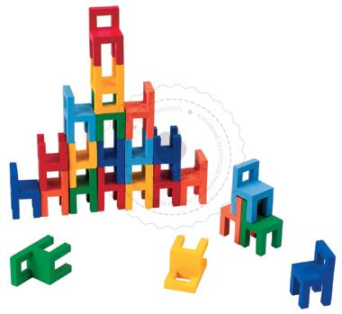 Zabawy zręcznościowe - Krzesła - zabawki drewniane