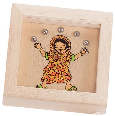 Gra wpasowanie kulek - Hinduska - zabawki drewniane