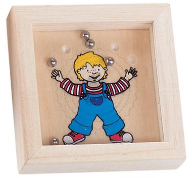 Gra wpasowanie kulek - Chłopiec - zabawki drewniane