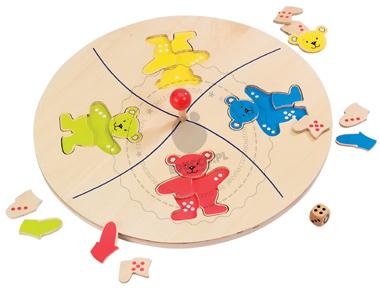 Gra puzzle - Układanie misiów - zabawki drewniane