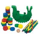 Zabawy zręcznościowe - Krokodyl  - zabawki drewniane