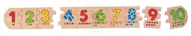 Liczbowe puzzle - zabawki drewniane