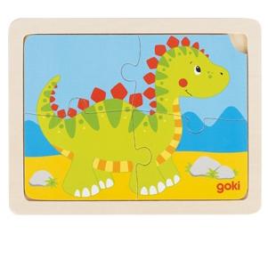 Puzzle drewniane 4-elementowe - Dinozaur