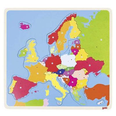 Puzzle małe - Europa - zabawki drewniane