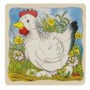Puzzle drewniane - od jajka do kurczaka - zabawki dla dzieci