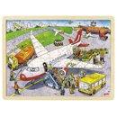 Puzzle drewniane - Na lotnisku - zabawki edukacyjne
