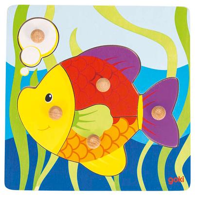 Puzzle dla najmłodszych - Rybka