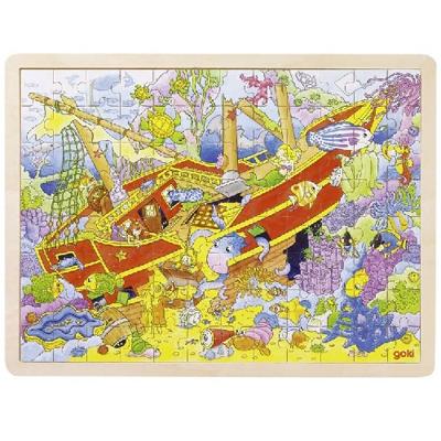 Puzzle  drewniane - Zatopiony statek
