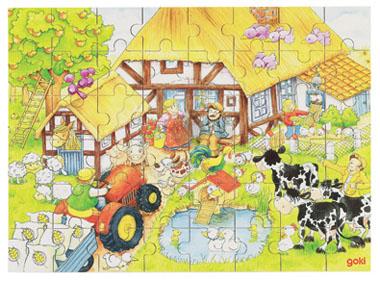 Puzzle - U dziadka na wsi - zabawki drewniane