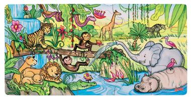 Puzzle - Życie w dżungli - zabawki drewniane