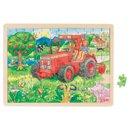 Puzzle - Traktor - zabawki drewniane