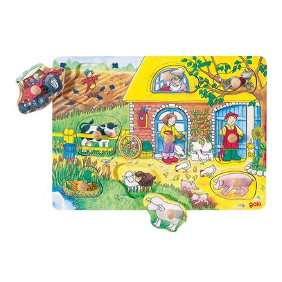 Puzzle z uchwytami - farma i ukryte obiekty