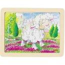 Baśniowe zwierzątka - wesoła owieczka - puzzle - zabawki drewniane