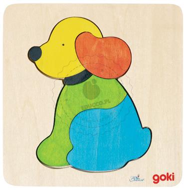Puzzle - Piesek - zabawki drewniane