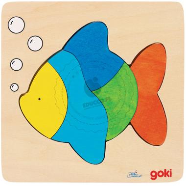 Puzzle - Rybka - zabawki drewniane