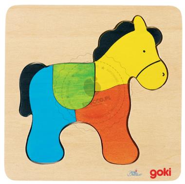 Puzzle - Konik - zabawki drewniane