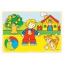 Puzzle - Przed domem - zabawki edukacyjne