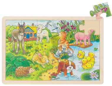 Puzzle drewniane - Zwierzątka na wsi