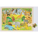 Puzzle - Afryka - zabawki drewniane