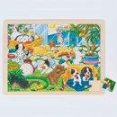 Puzzle drewniane - Pieskie życie