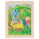 Baśniowe zwierzątka - myszka - puzzle - zabawki drewniane